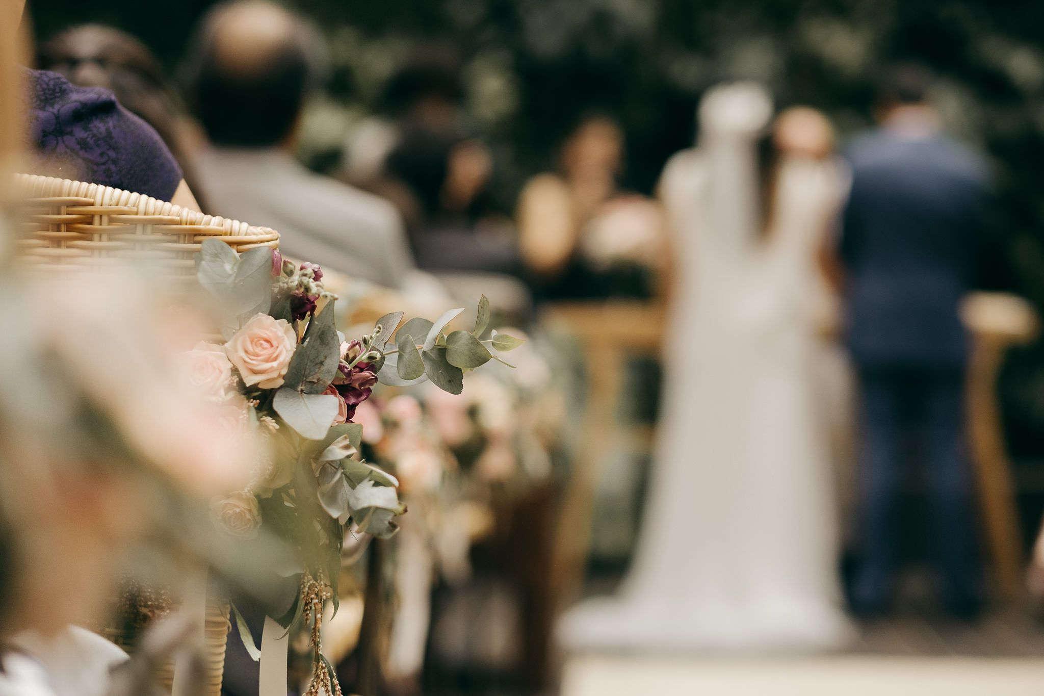 cerimônia de casamento em um restaurante