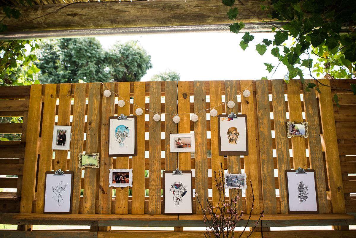 decoração rústica de casamento no jardim